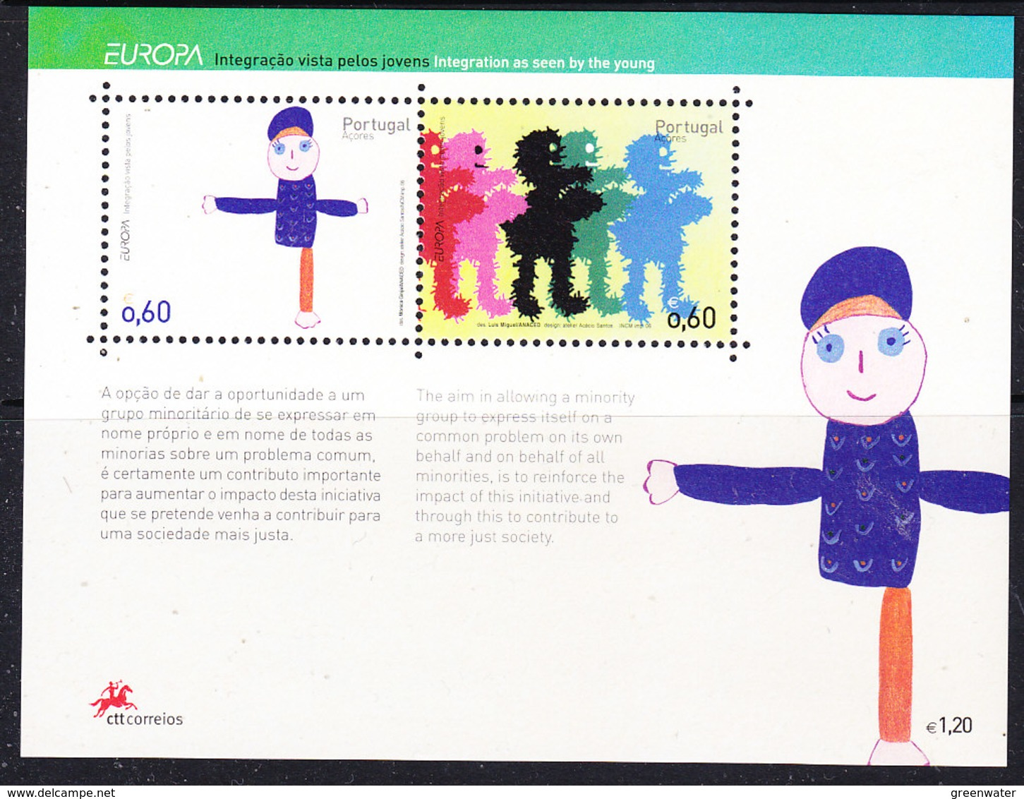Europa Cept 2006 Azores M/s ** Mnh (44269) @ Face - Europa-CEPT