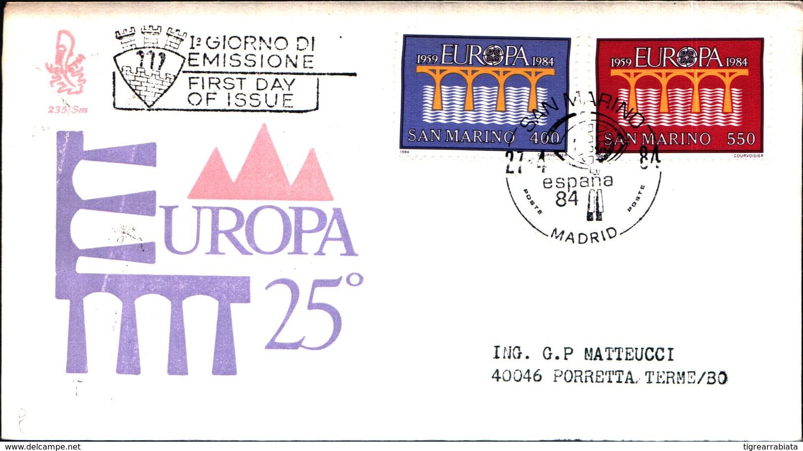 13095A)F.D.C. SAN MARINO Europa - 27 Aprile 1984 - FDC