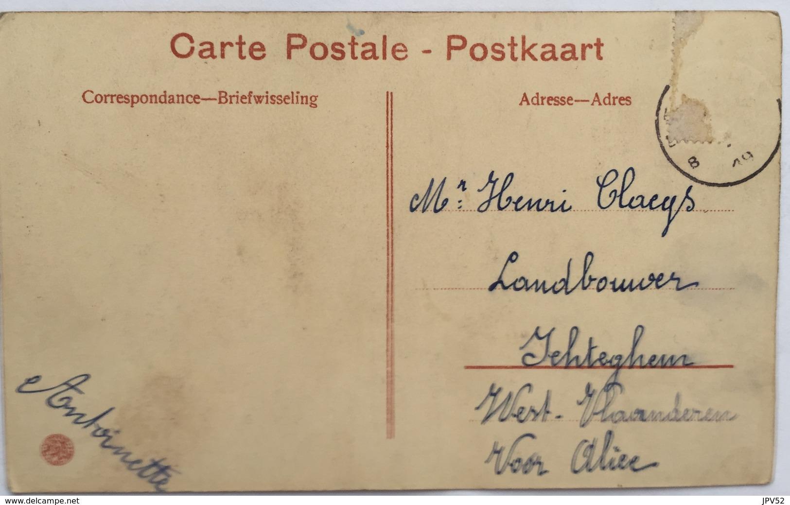 (885) Eecloo - Institut Notre-Dame Aux Epines - Pavillon St. Paul - L'Etude En Plein Air - Meisjes Met Een Das Aan. - Eeklo