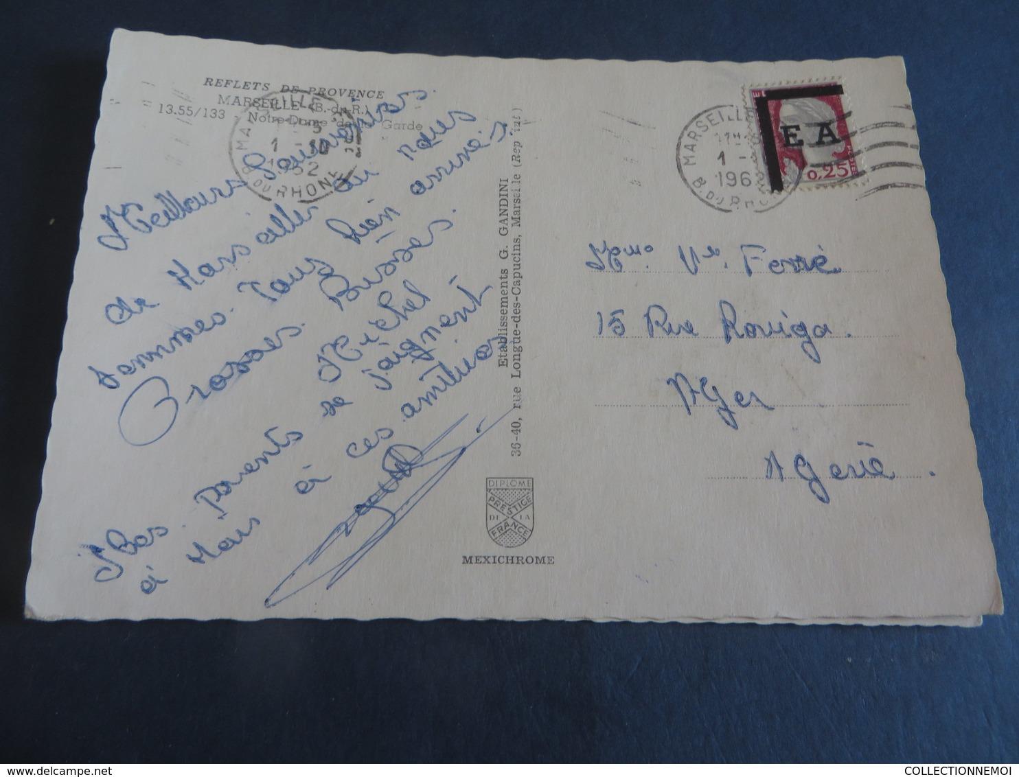 E.A. ALGERIE,5 Piéces,3 Cartes Postales Et 2 Lettres ,toutes Scannées (lot 290 )) - Algerien (1962-...)