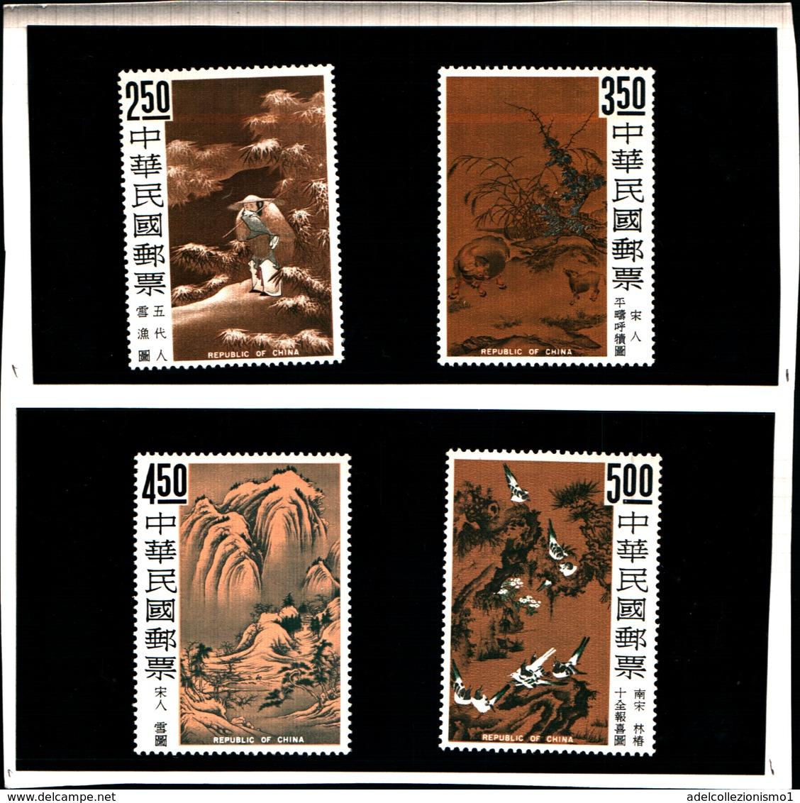 6765B) FORMOSA- 1966-QUADRI DELLA CINA ANTICA-SERIE COMPLETA-N. 541/44-MNH** - Neufs