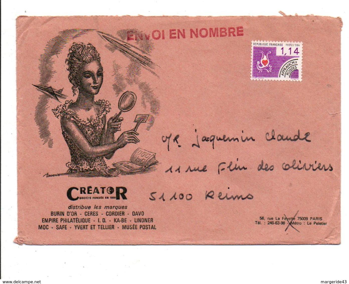 PREO SUR LETTRE A EN TETE DESSINE PAR DECARIS DE PARIS - 1961-....