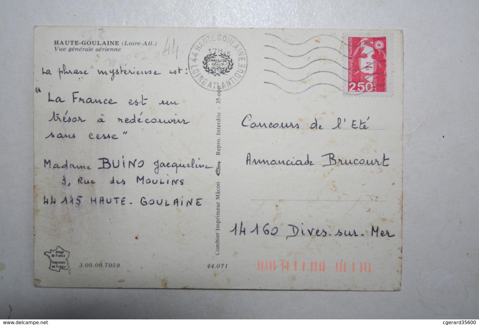 44 : Haute Goulaine  - Vue Générale Aérienne - Haute-Goulaine