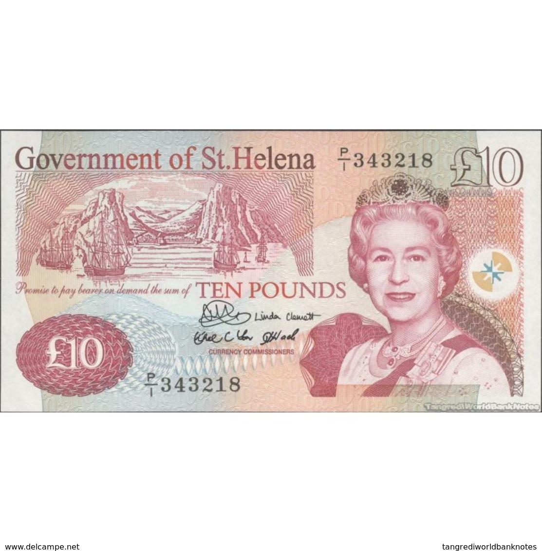 TWN - SAINT HELENA 12a - 10 Pounds 2004 Prefix P/1 UNC - Banconote