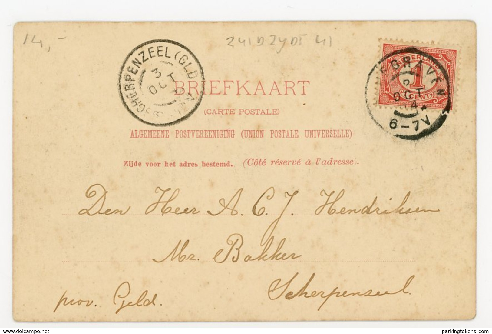 D172 - Bodegraven - Zuidzijde - Rijngezicht - 1904 - Uitg W Karssen - Nederland