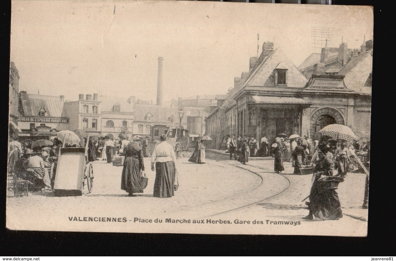 VALENCIENNES/028....MARCHE AUX HERBES ...GARE DES TRAMWAYS - Valenciennes