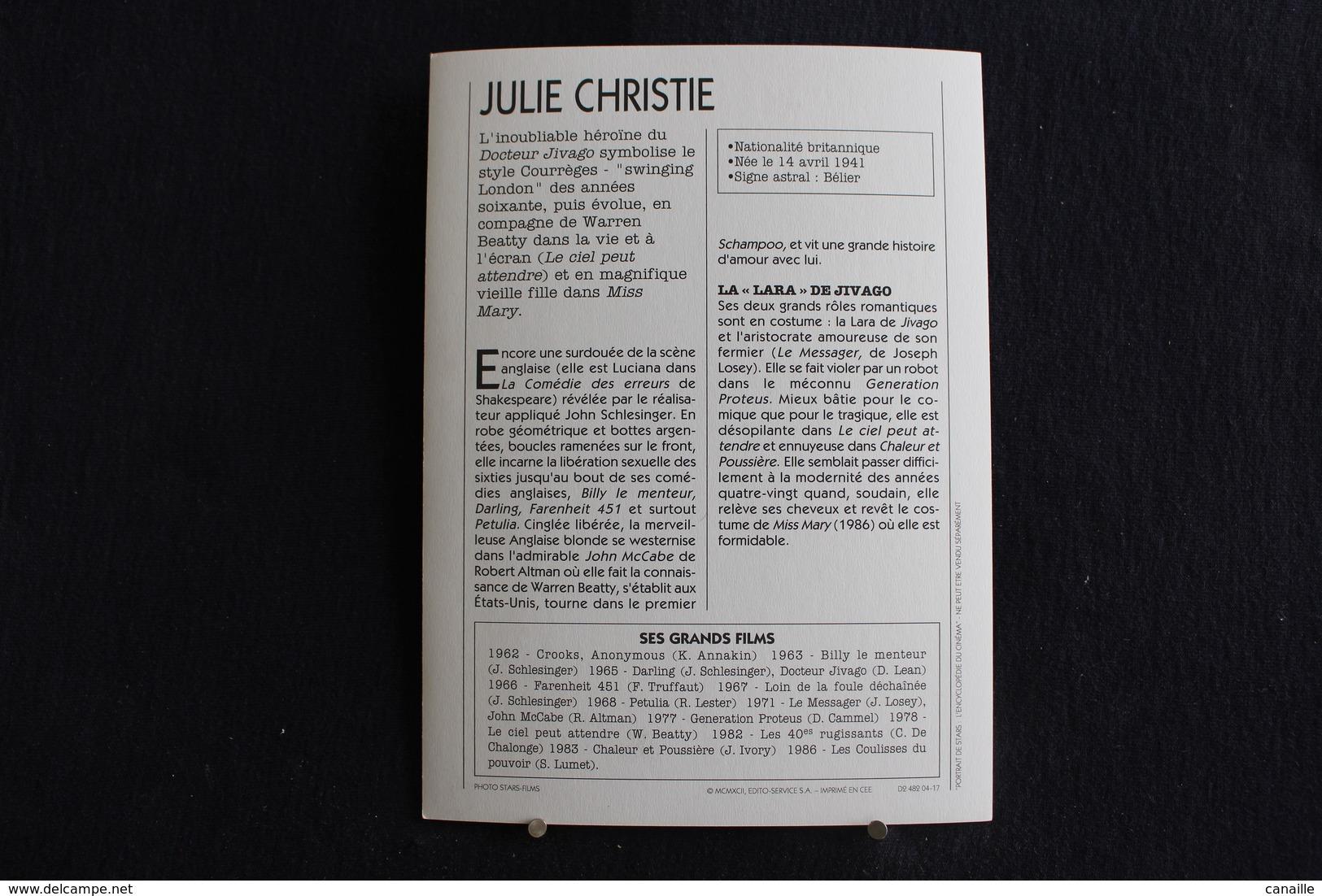 Sp-Actrice,britannique, 1960 Julie Christie - Née 14 Avril 1940 à Chabua, Dans La Région D'Assam En Inde Britannique. - Acteurs