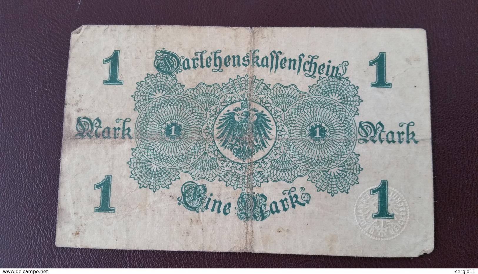 Billet Allemagne 1 Mark 12 Août 1914 N° Série 208 - 654478 - Altri