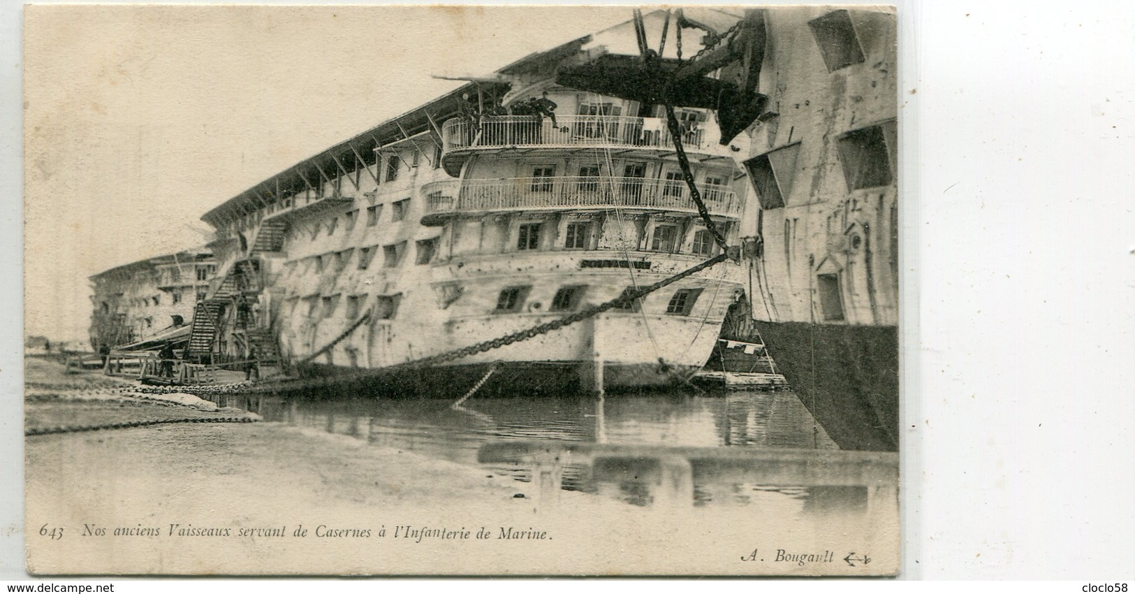 NOS ANCIENS VAISSEAUX  SERVANT DE CASERNRS  A L INFANTERIE DE MARINE TOP - Warships