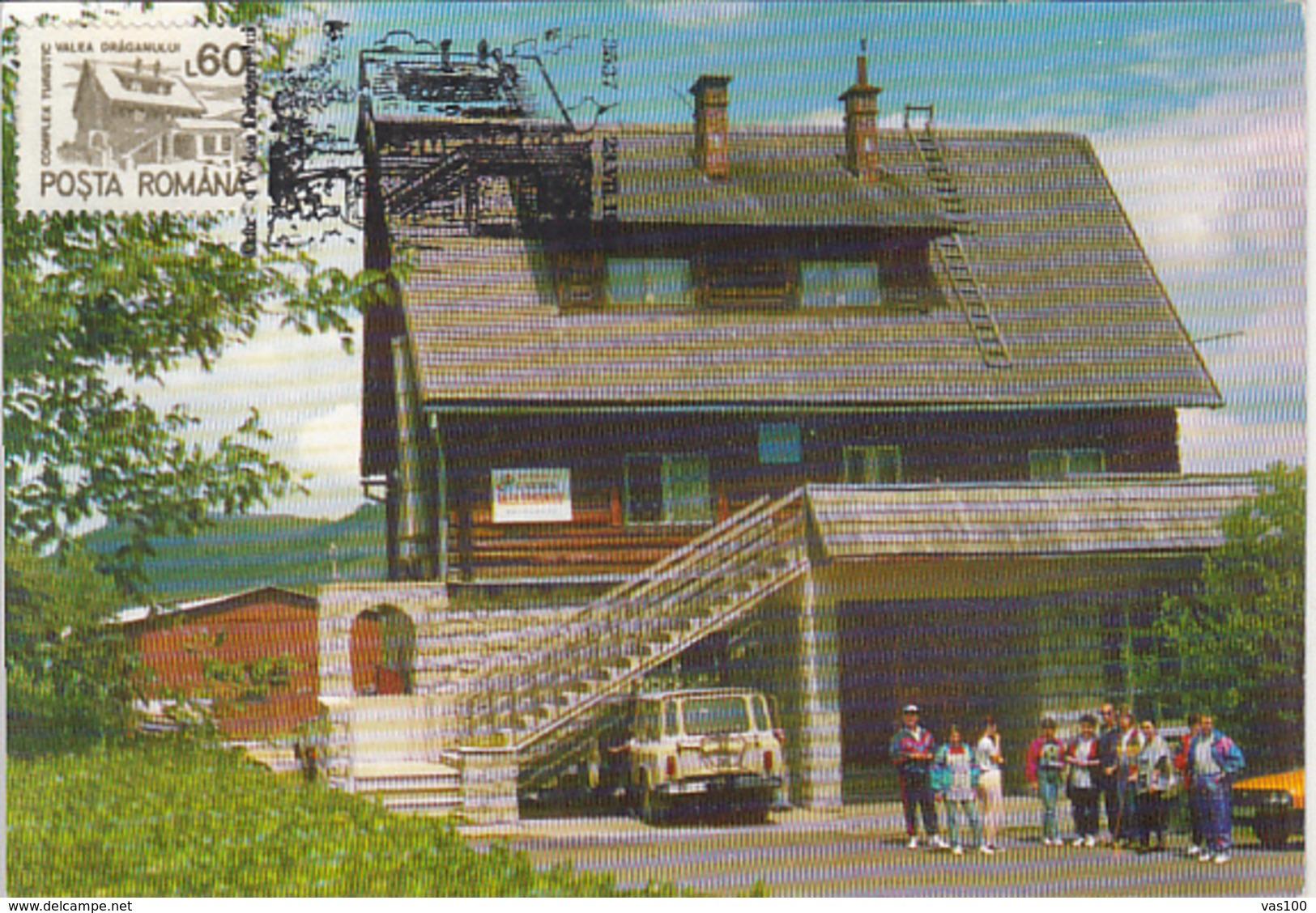 TOURISM, VALEA DRAGANULUI TOURISTICAL COMPLEX, CM, MAXICARD, CARTES MAXIMUM, 1993, ROMANIA - Holidays & Tourism