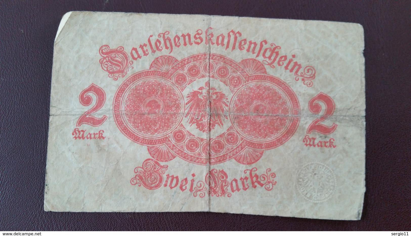 Billet Allemagne 2 Mark 12 Août 1914 N° Série 136 - 972807 - [ 2] 1871-1918 : Impero Tedesco
