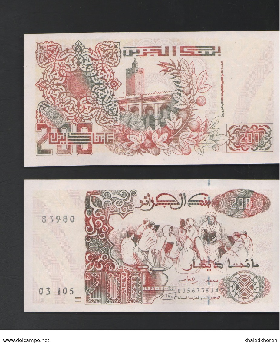 200 Dinars 1992 Algerie Algeria New Unc - Algerije
