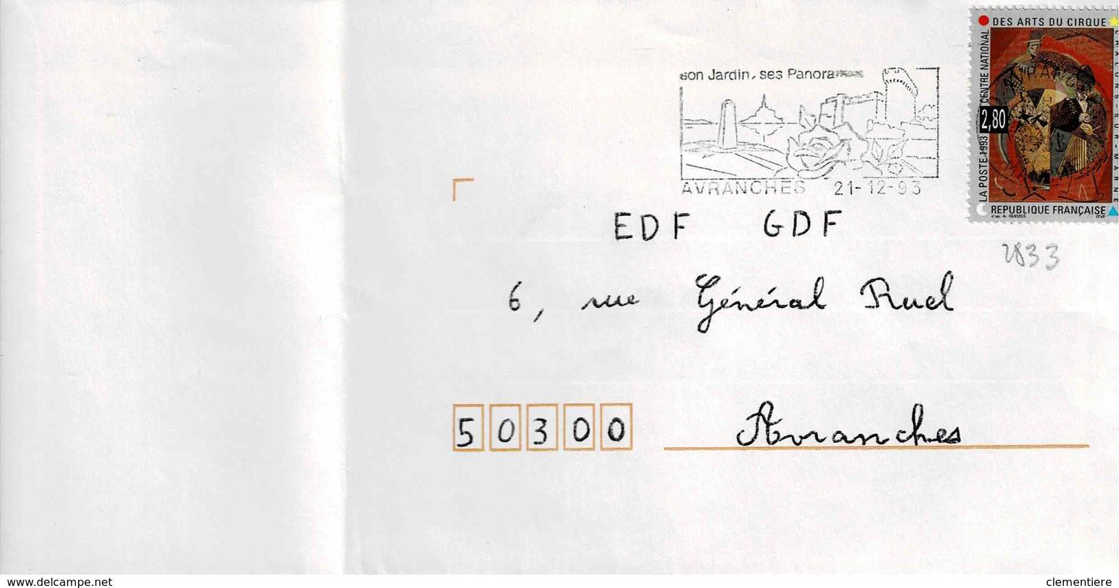 TP  N° 2833 Seul  Sur Enveloppe De Avranches - 1961-....