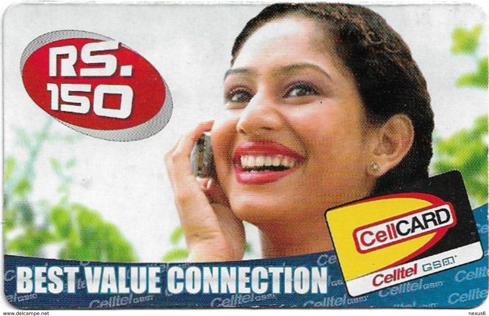 Sri Lanka - Celltel - Woman On Phone, Prepaid 150Rs, Used - Sri Lanka (Ceilán)