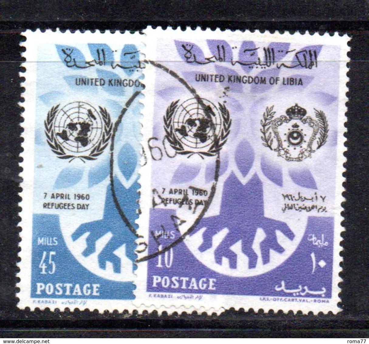 APR2348 - LIBIA 1960 ,  Serie Rifugiati  Usata   (2380A) - Libia