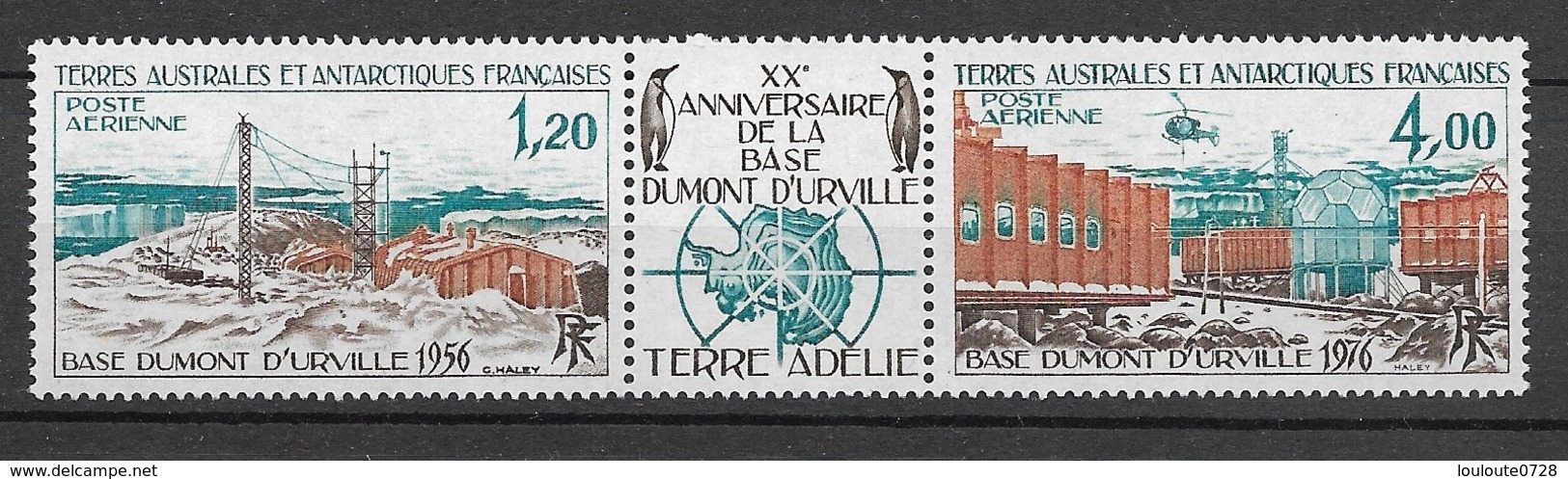 TAAF 1976 Poste Aérienne N° 43A  Triptyque  N * * Luxe  TTB - Collections, Lots & Séries