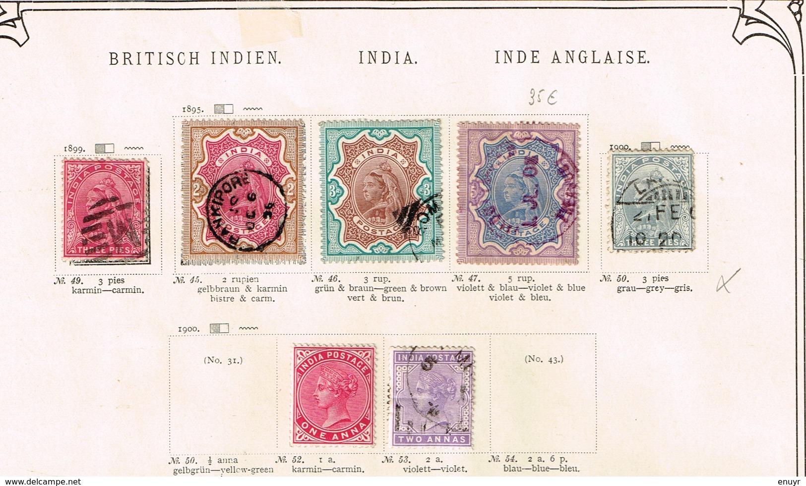 Indes Anglaises Ancienne Collection Sur Feuilles D'époque - Timbres