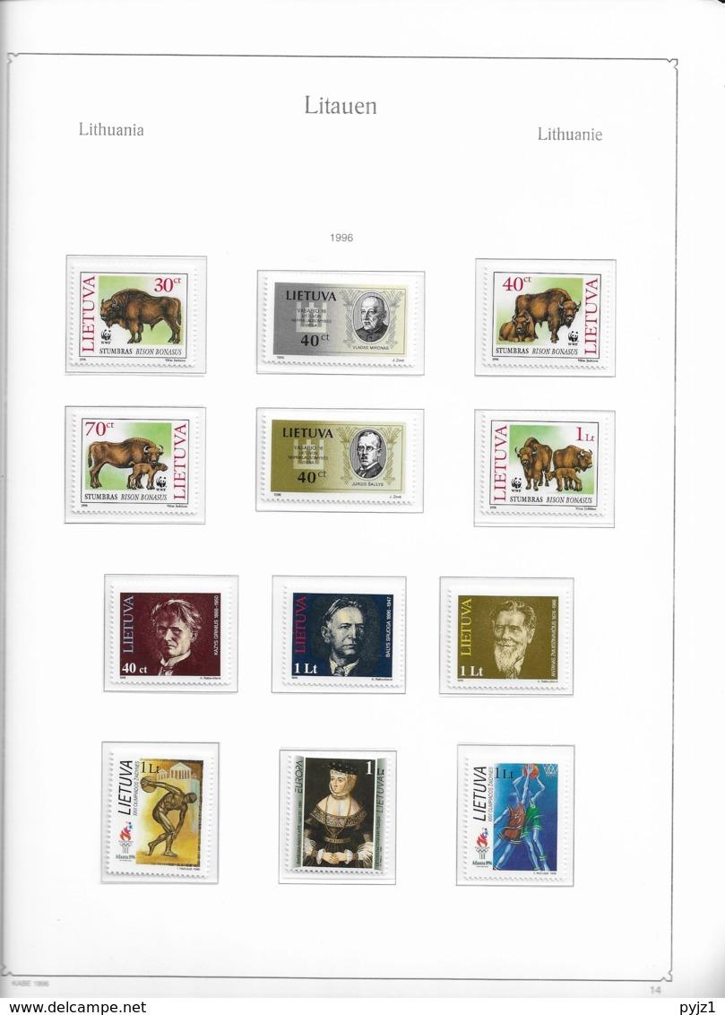 1996 MNH Lituania Year Collection Postfris** - Lituania