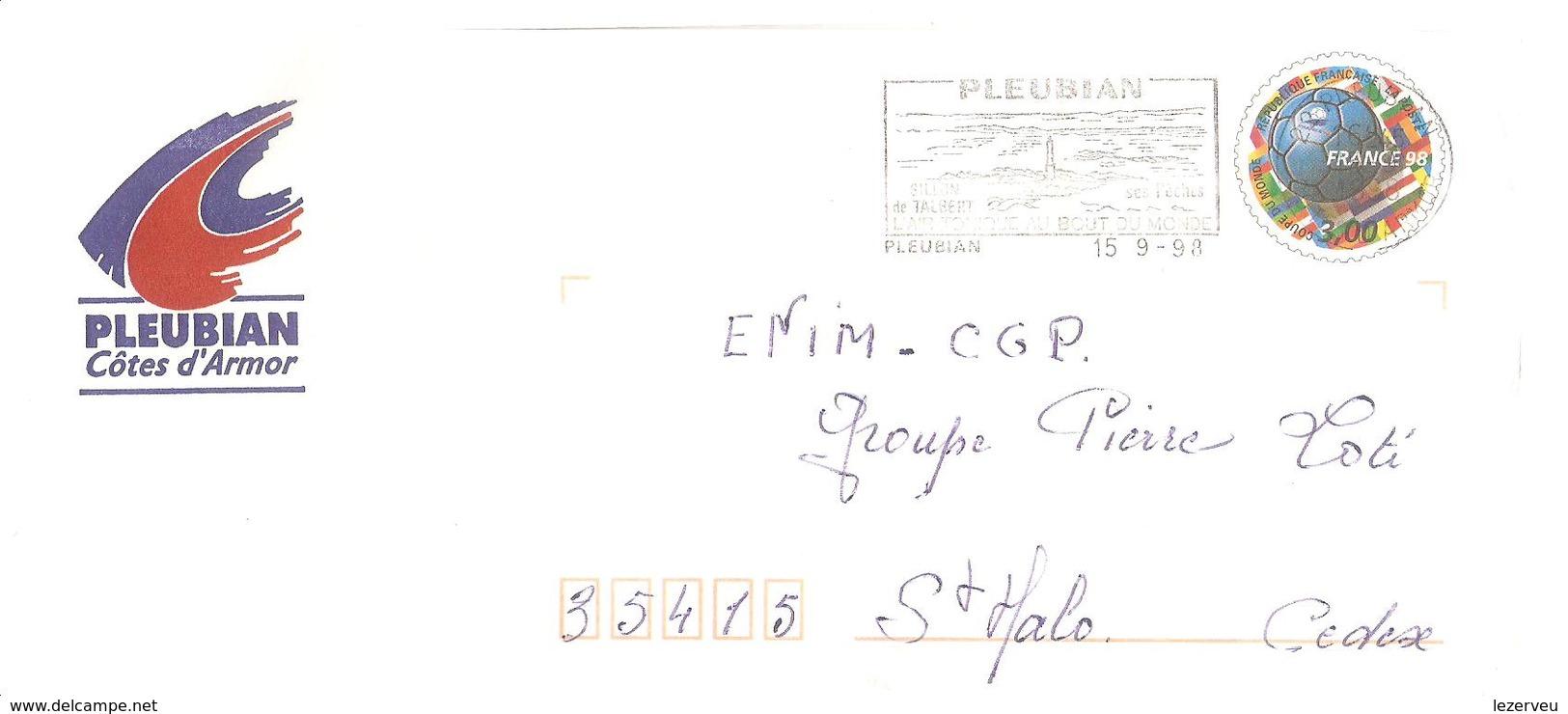CACHET OBLITERATION FLAMME EMA PLEUBIAN SILLON DE TALBERT  PAP ENVELOPPE 22X11 MAIRIE - 1961-....
