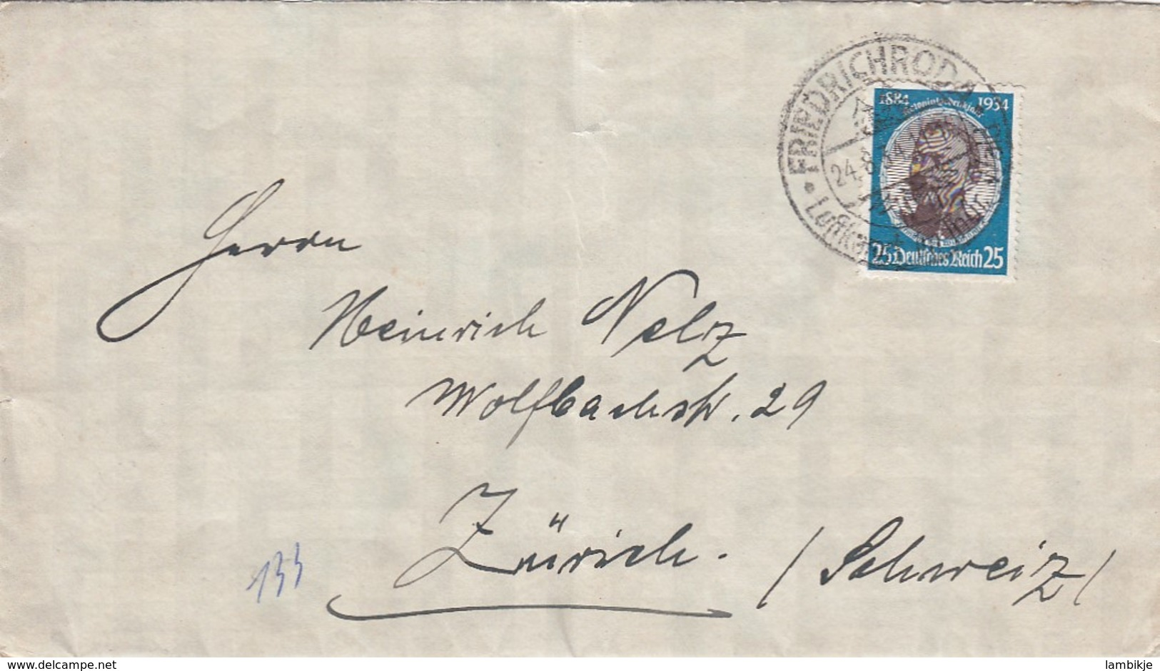 Deutsches Reich Brief 1934 - Deutschland