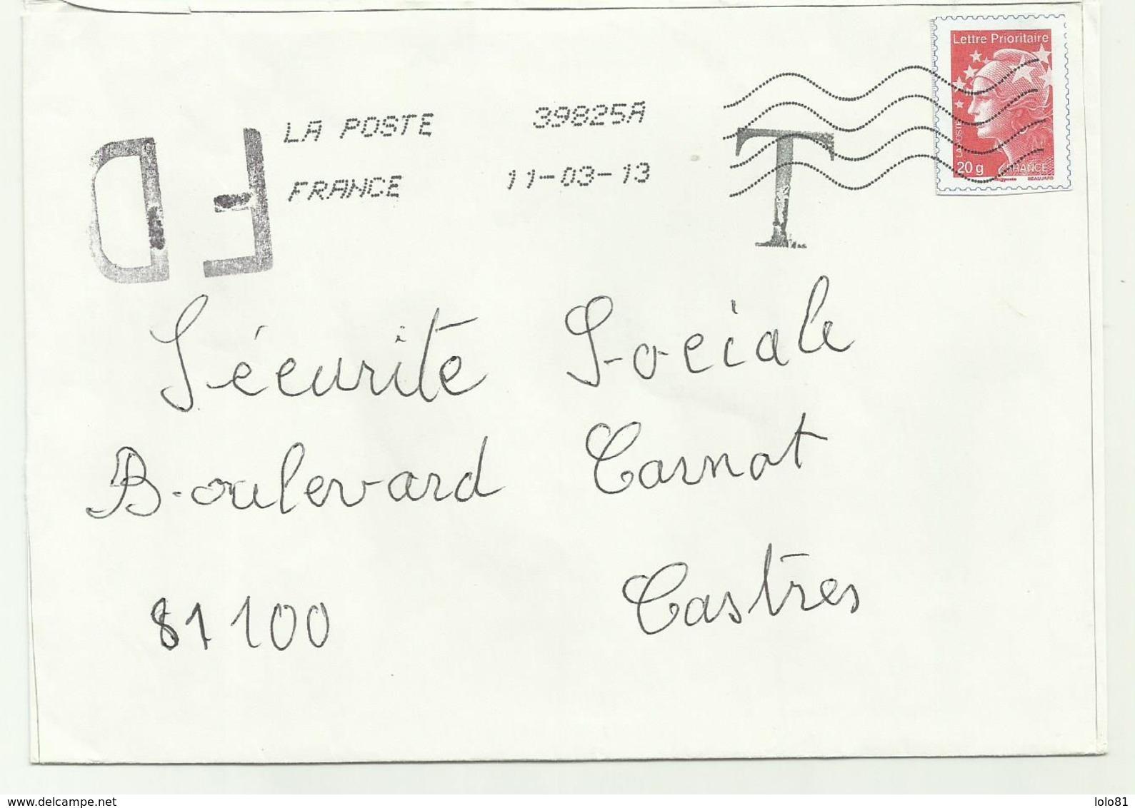 Lettre Fausse Direction Et TAXE  2013 - 1961-....