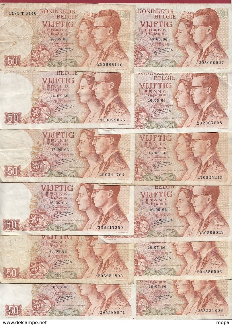 Belgique 111 Billets Dans L 'état Voir Scan - Belgio