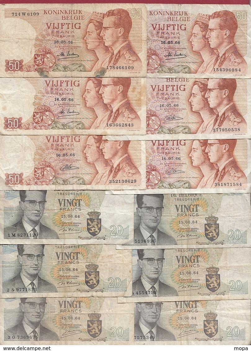 Belgique 111 Billets Dans L 'état Voir Scan - Altri