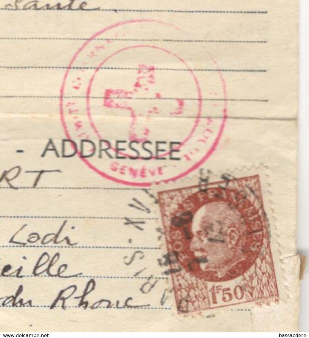 21196 - Message Croix Rouge - Poststempel (Briefe)