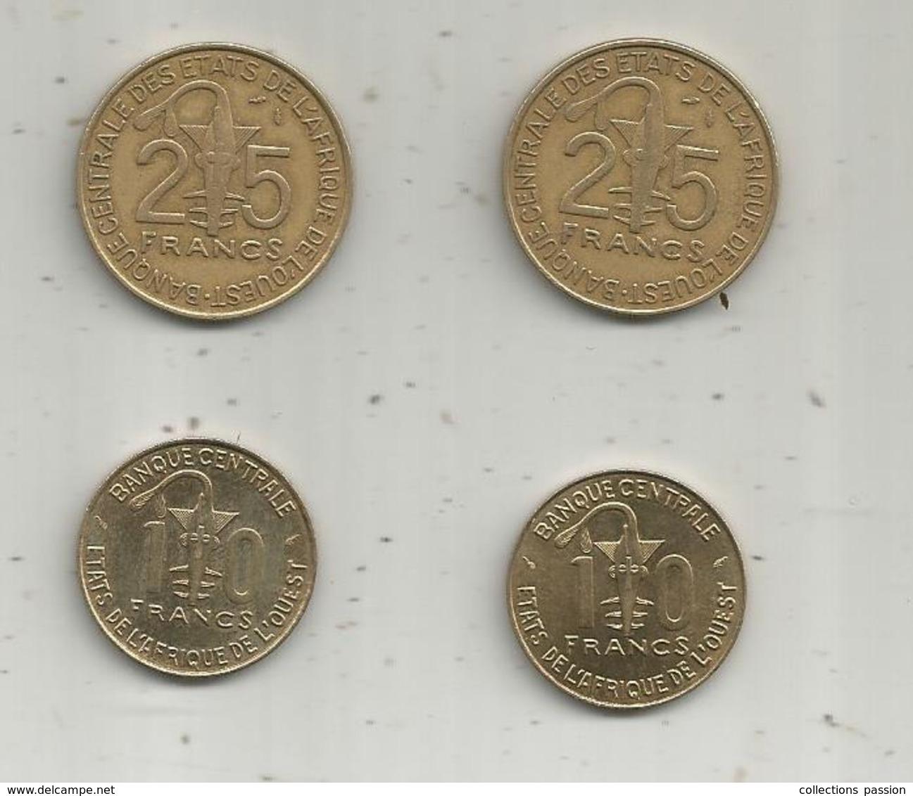 Banque Centrale Des Etats De L'AFRIQUE De L'OUEST ,  2 Scans , LOT DE 4 MONNAIES - Kilowaar - Munten