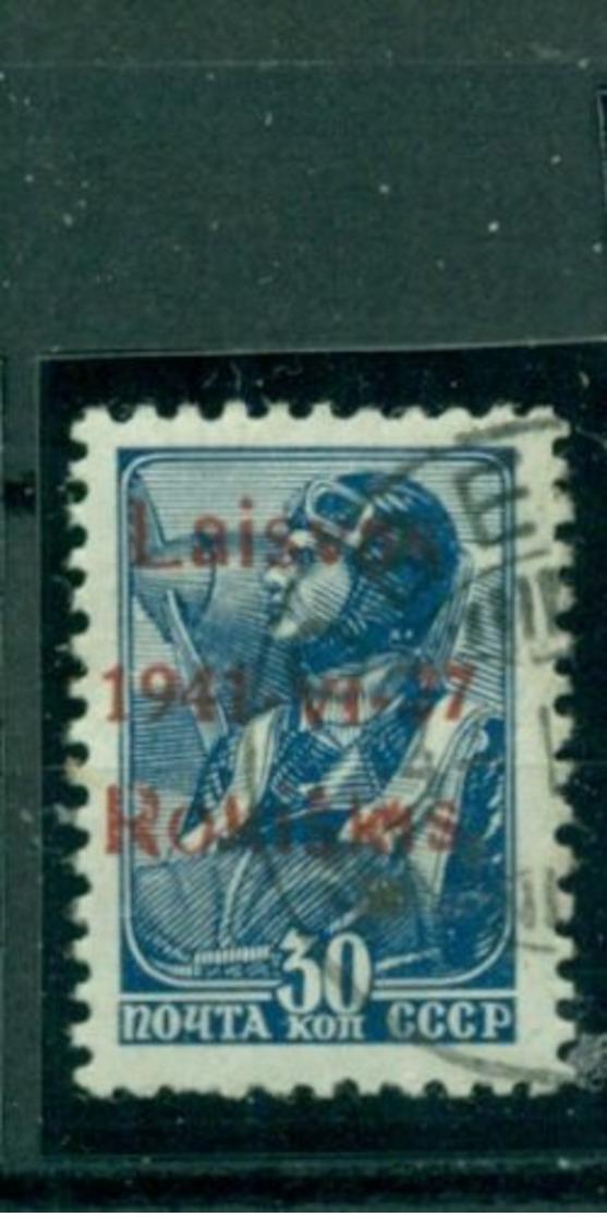 Deutsches Reich, Litauen Roskiskis Nr. 5 B II Gestempelt - Besetzungen 1938-45