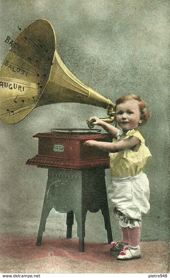 Bambina Con Grammofono, Riproduzione Da Orig., Reproduction, Illustrazione, (F41) - Femmes