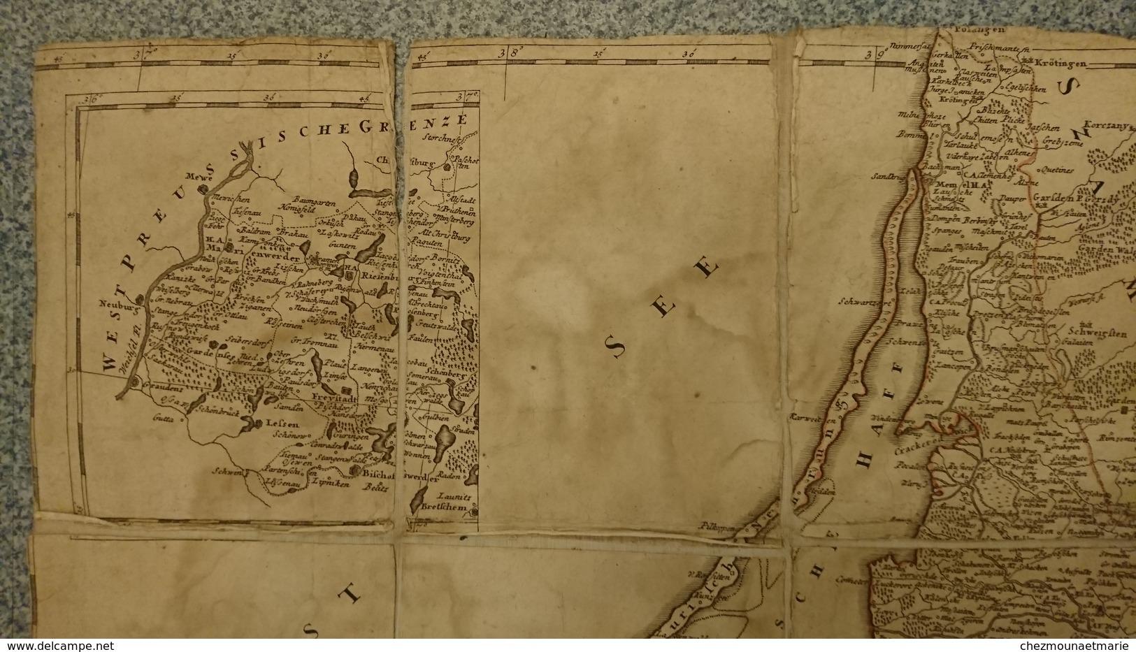 TABULA REGNI BORUSSIAE BORUSSIAM ORIENTALEM EXHIBENS 1775 GUSSEFELD NUREMBERG CARTE PRUSSE - Geographical Maps
