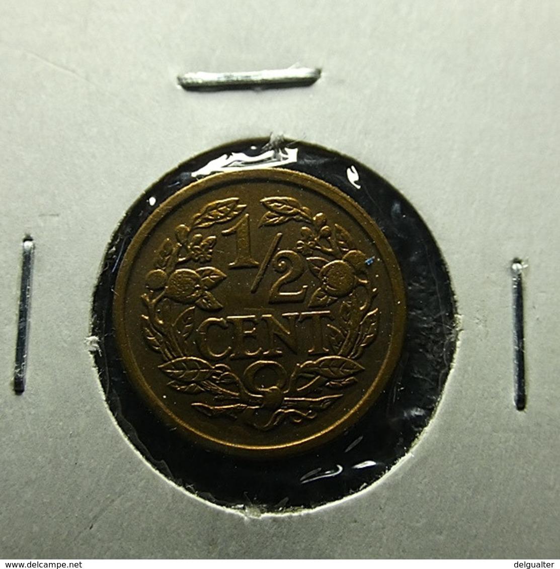 Netherlands 1/2 Cent 1934 Varnished - [ 3] 1815-… : Koninkrijk Der Nederlanden
