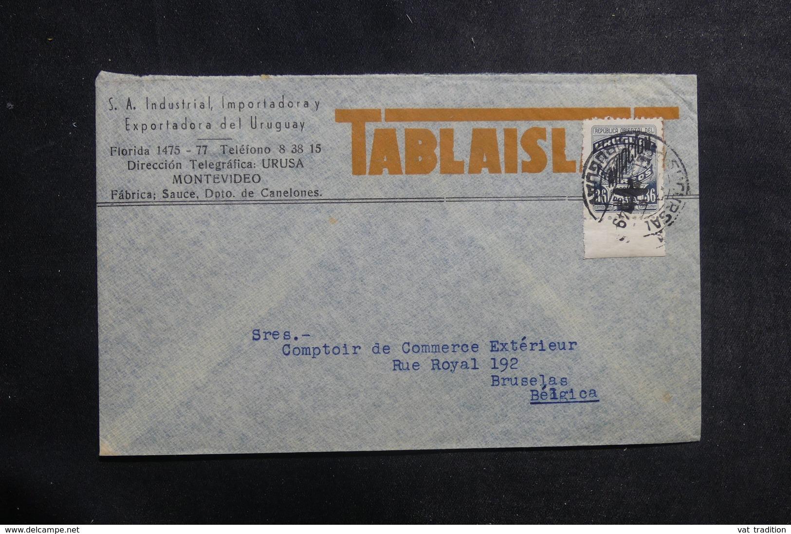 URUGUAY - Enveloppe Commerciale De Montevideo Pour La Belgique En 1949 - L 39894 - Uruguay
