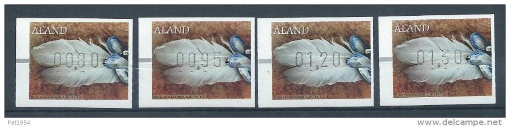 Aland 2015 Série N° 24 Timbres De Distributeurs Plumes - Aland