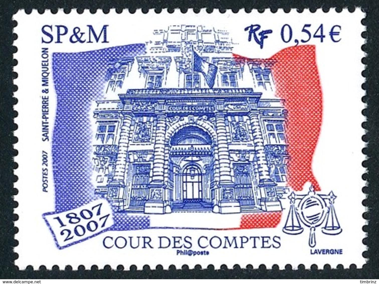 ST-PIERRE ET MIQUELON 2007 - Yv. 885 ** TB  Cote= 2,20 EUR - Cour Des Comptes. Emission Conjointe  ..Réf.SPM11575 - St.Pierre Et Miquelon