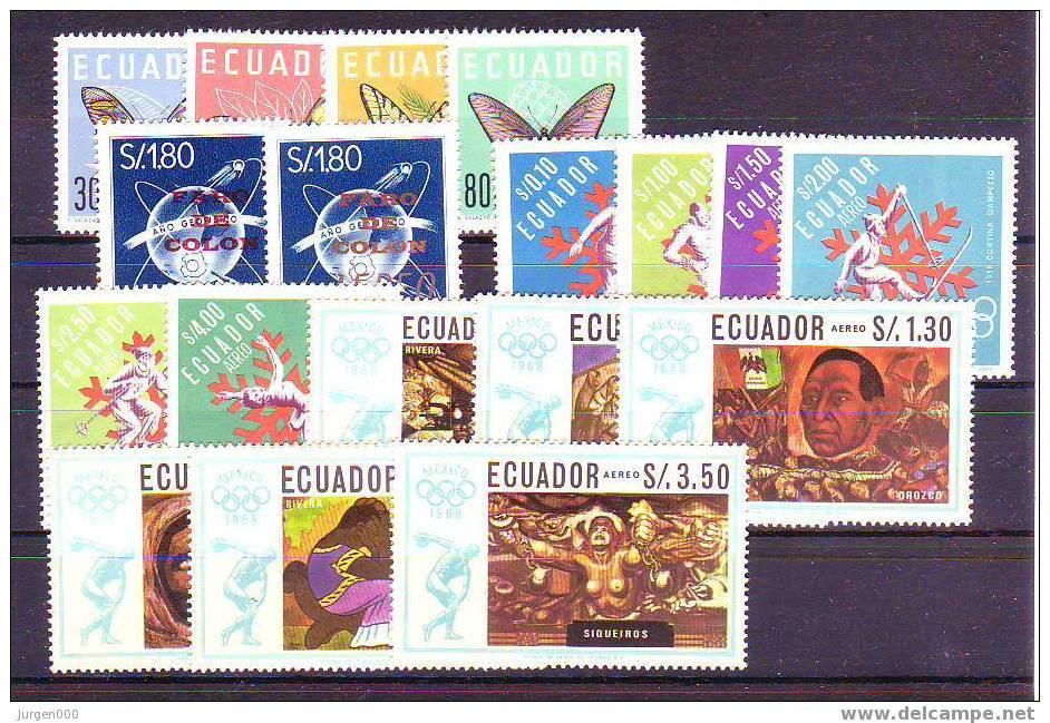 Nr 1070/1073, 1134/1135, 1274/1279, 1313/1318 **, Michel = 26 Euro (Z10404) - Equateur