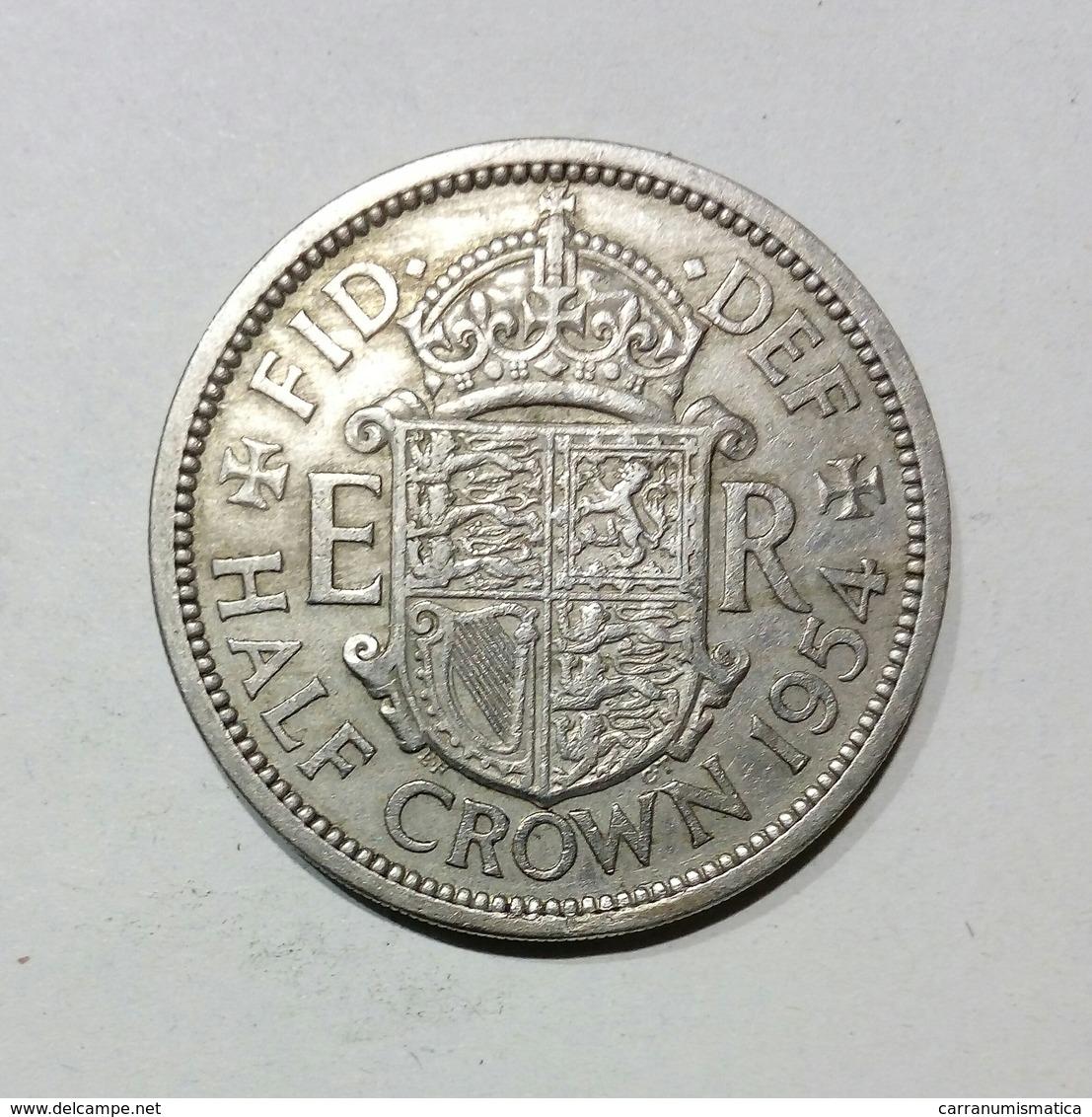 GRAN BRETAGNA / UNITED KINGDOM - HALF CROWN ( 1954 ) Elizabeth II - K. 1/2 Crown