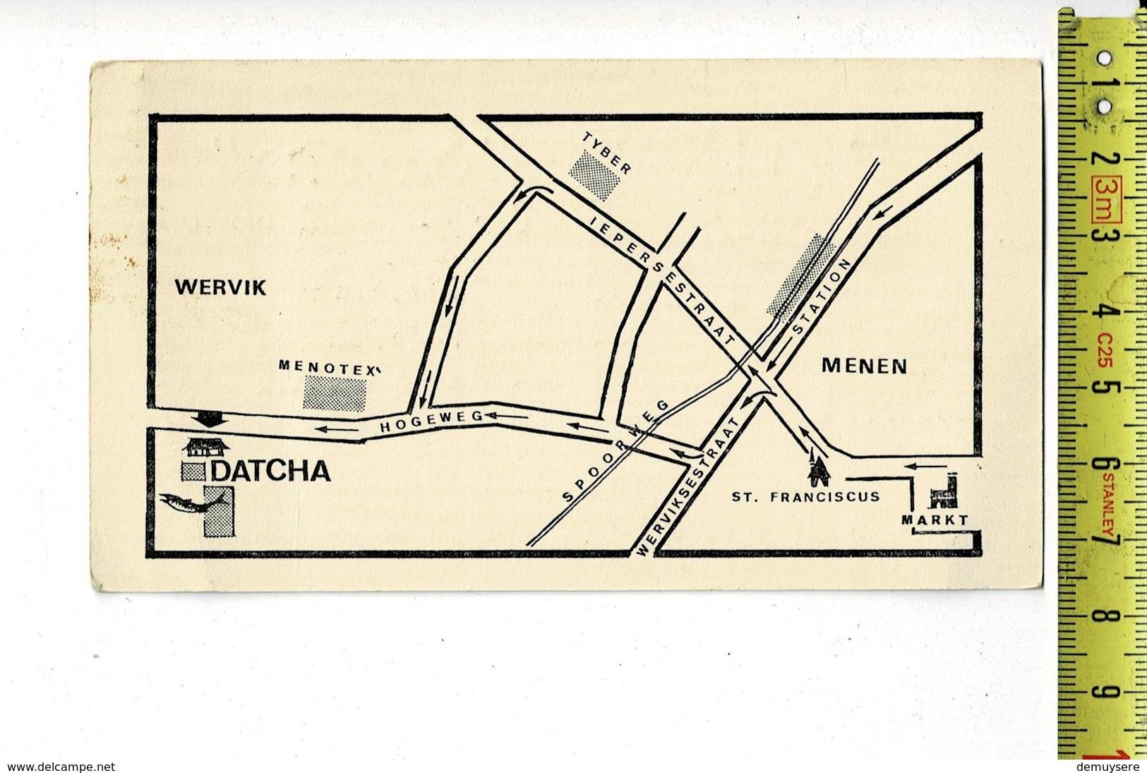 KL 9864 - DATCHA WERVIK - BAR RESTAURANT - Cartoncini Da Visita