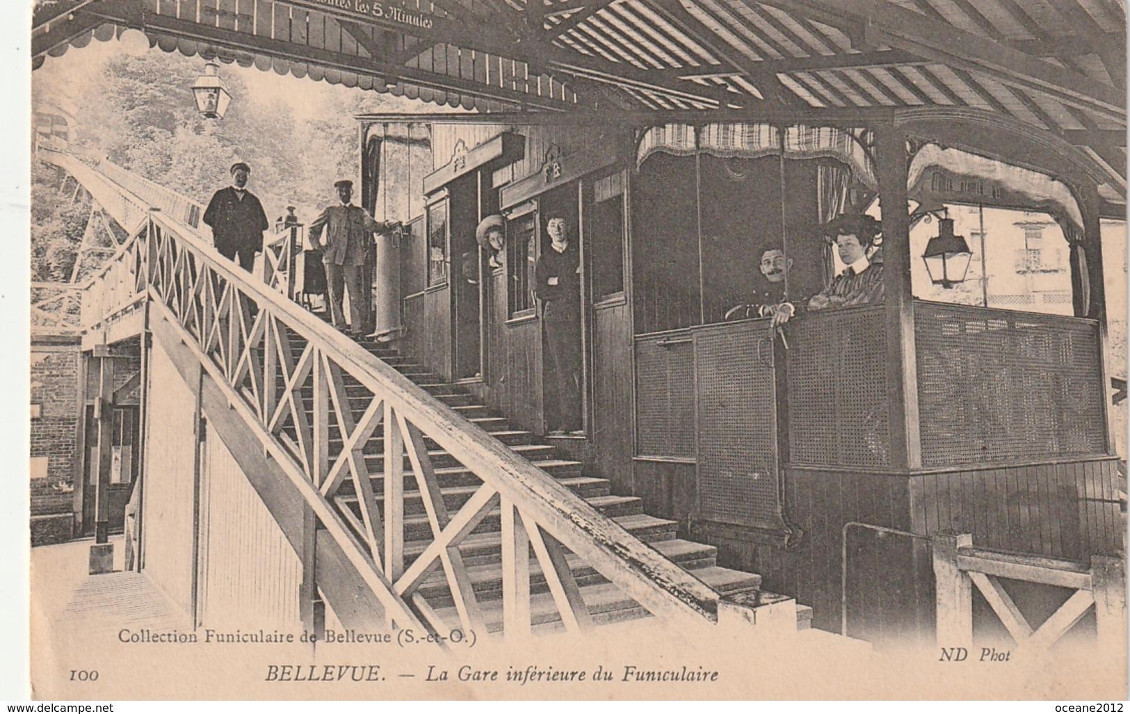 92 Meudon. Bellevue. La Gare  Inférieure Du Funiculaire - Meudon
