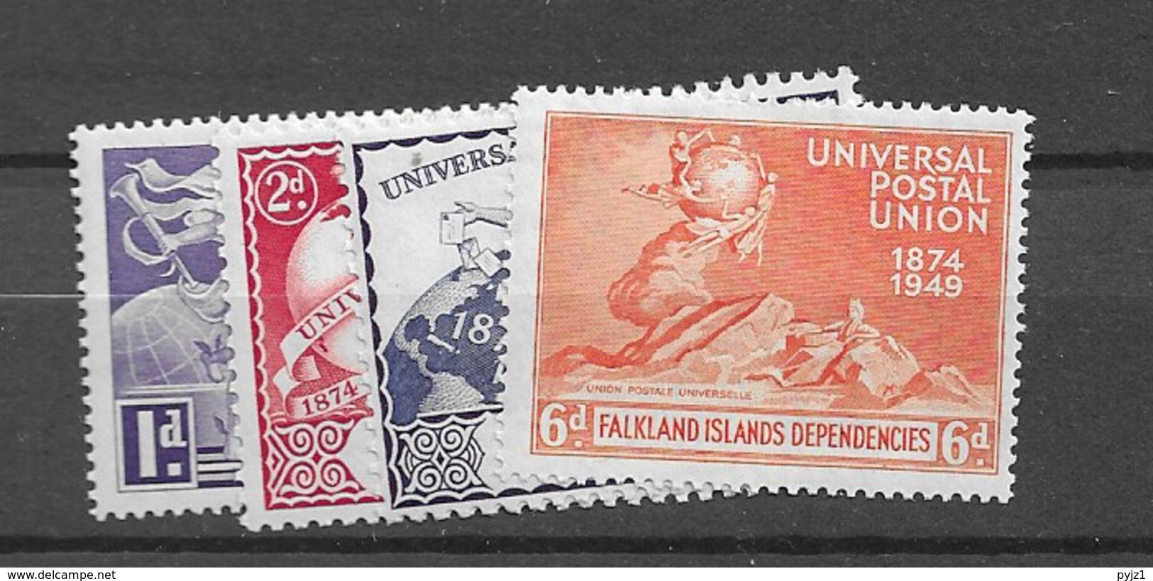 1949 MNH Falkland Islands Dependencies, Postfris** - Islas Malvinas
