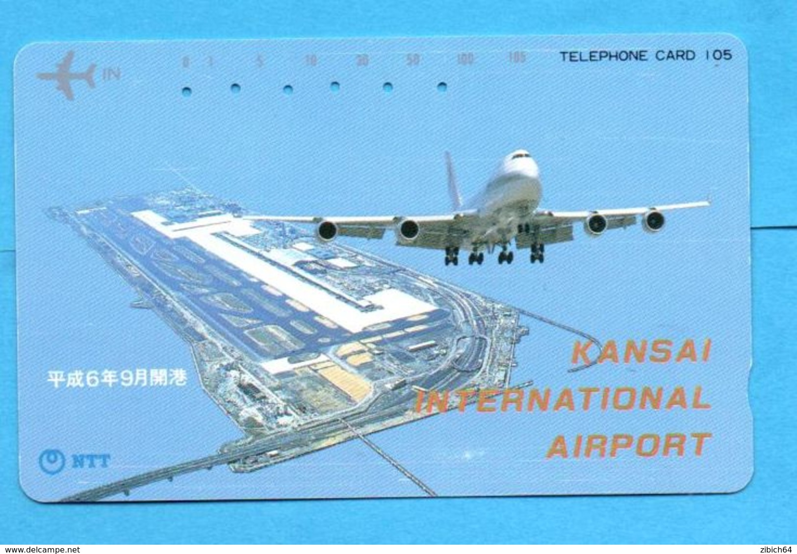 JAPAN Used Phonecard NTT - Vliegtuigen