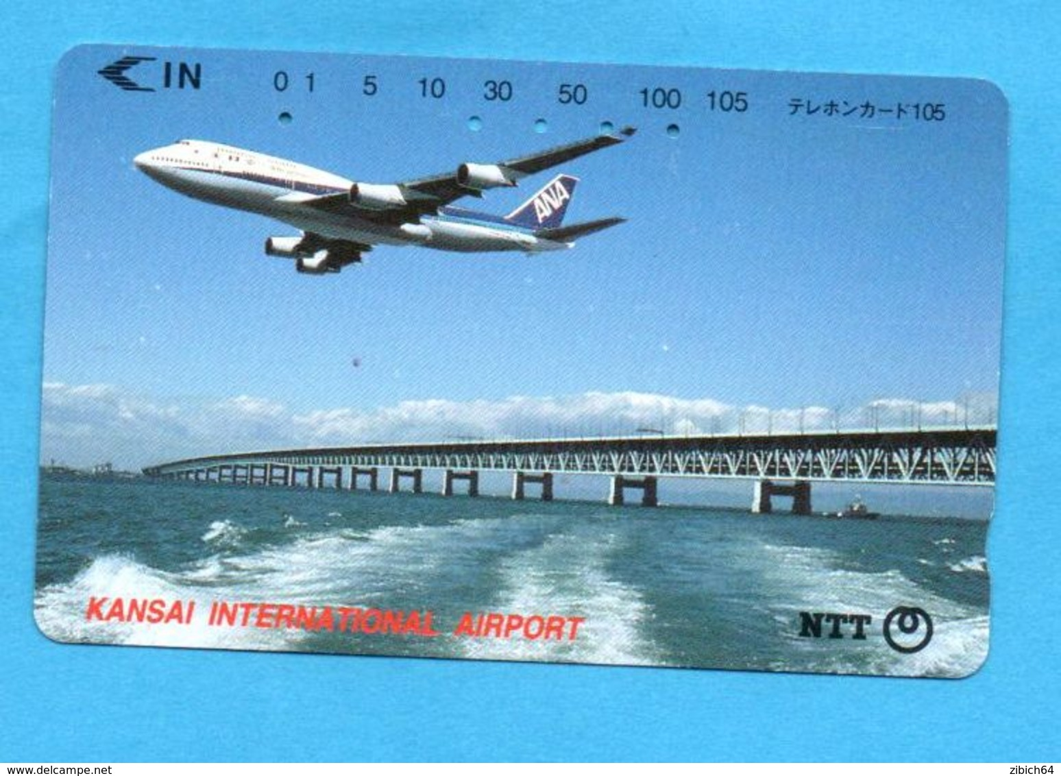 JAPAN Used Phonecard NTT - Avions