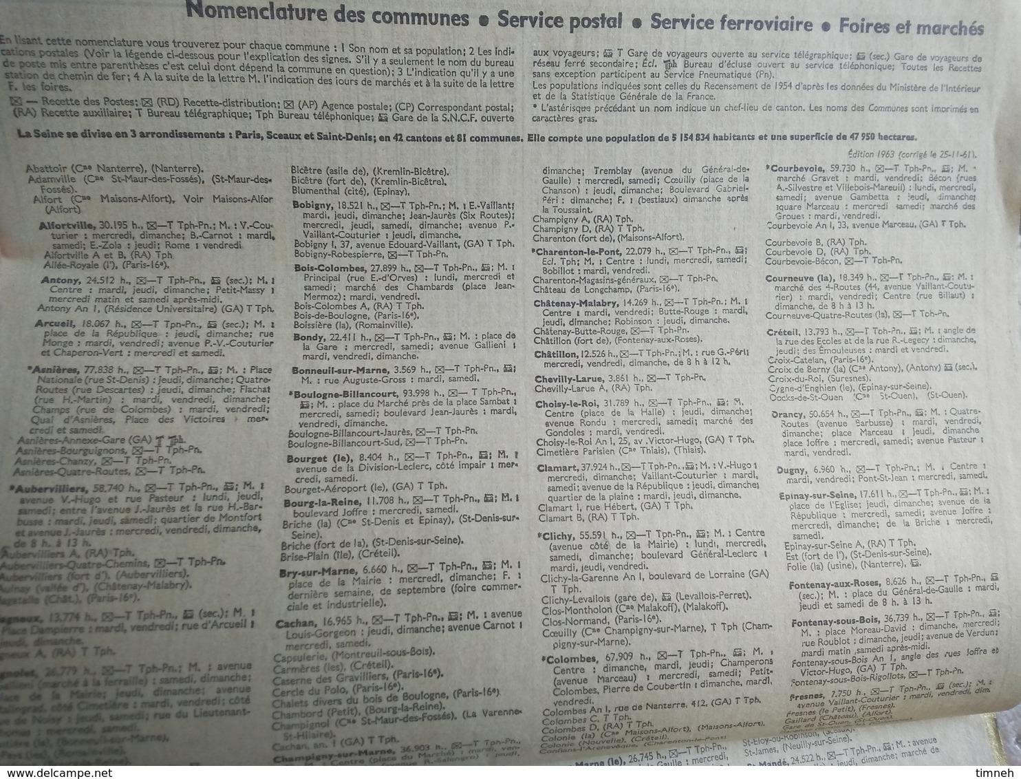 1963 - ALMANACH DES P.T.T OBERTHUR -  75 LA SEINE - 1963 - VIOLON D' INGRES - ARTISTE PEINTRE - Calendriers