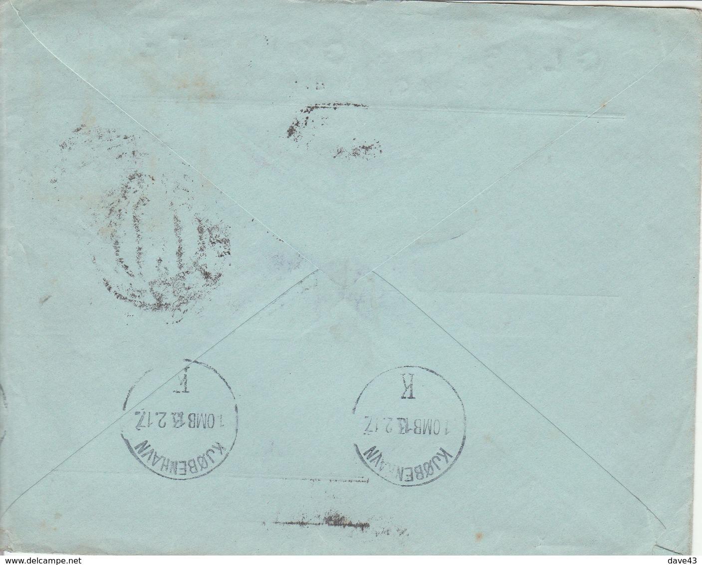 1917 Censored Cover Prague To Copenhagen 25h Stamp SG254 Prague CDS + Copenhagen B/s - Austria