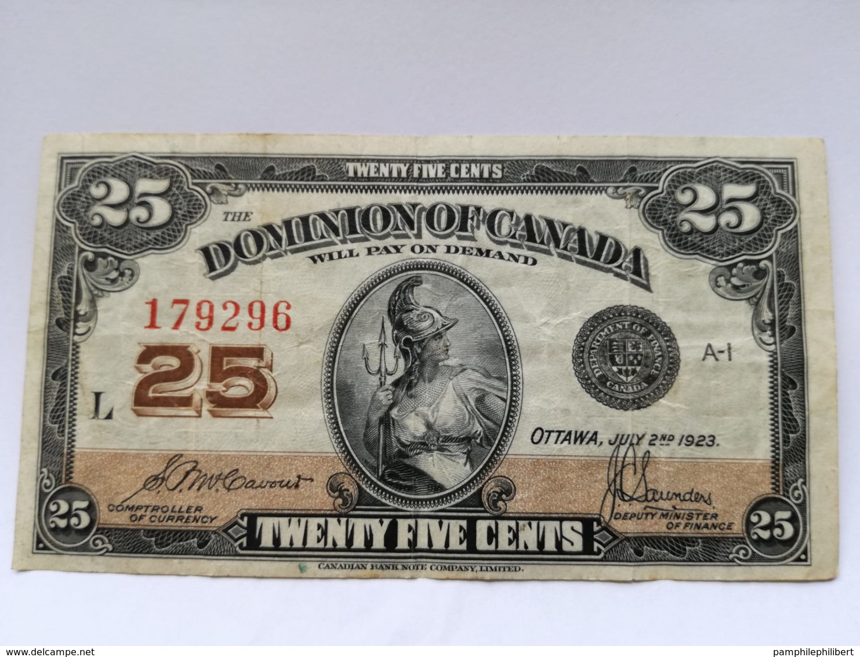 25 Cents Papier 1923 - Kanada
