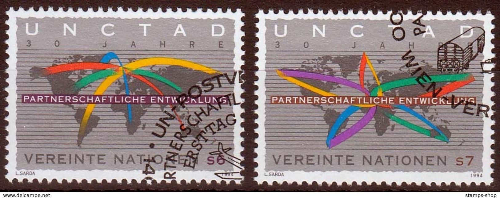 UNO Wien MiNr. 176/77 O 30 Jahre Konferenz Der Vereinten Nationen - Sonstige - Europa