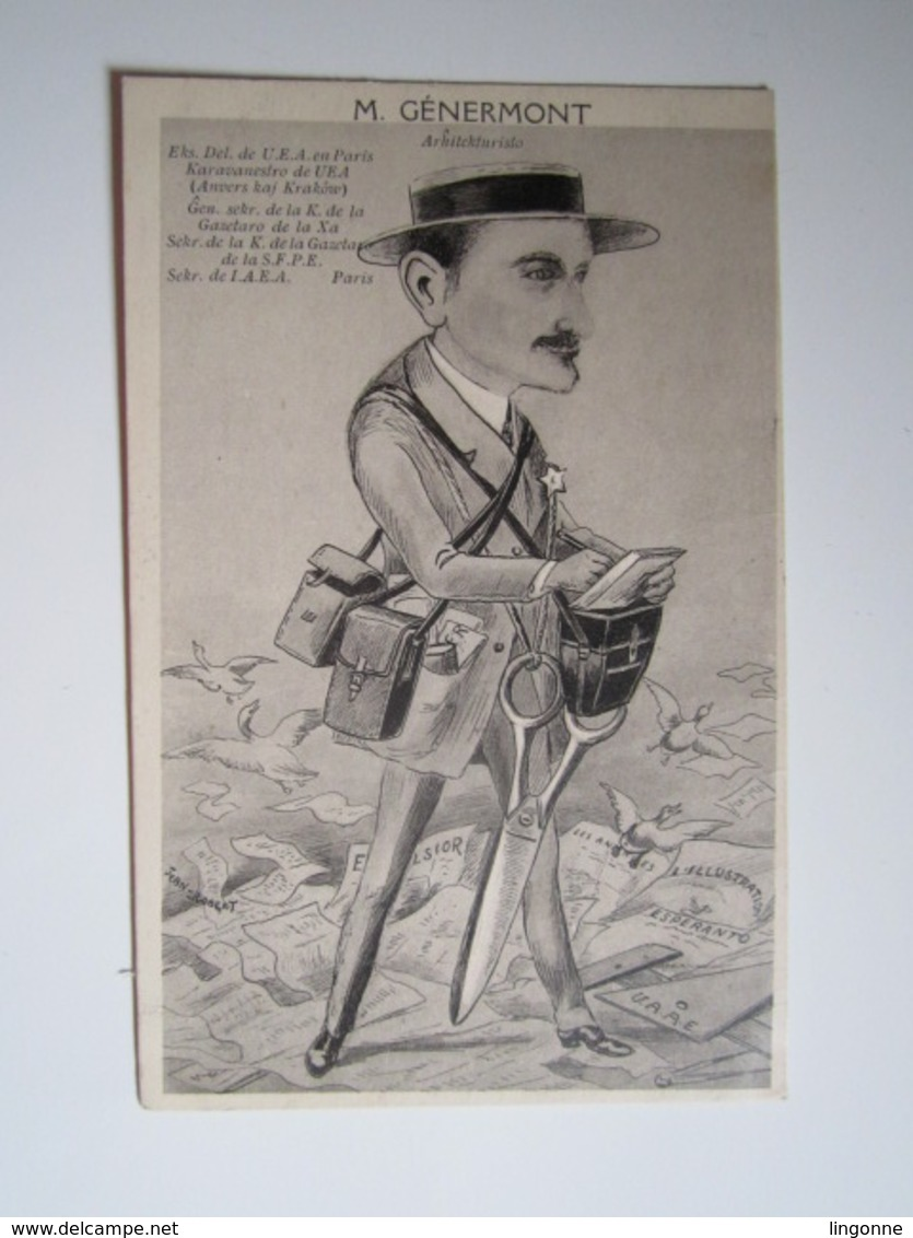 Espéranto Illustrée Par Jean Robert M.Génermont Architekturisto Architecte - Esperanto