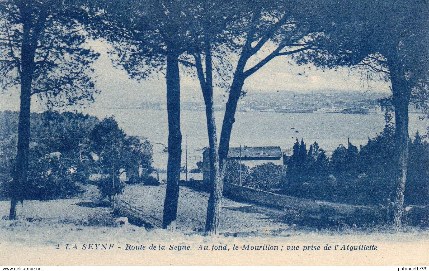 83 LA SEYNE ROUTE DE LA SEYNE AU FOND LE MOURILLON VUE PRISE DE L' AIGUILLETTE - La Seyne-sur-Mer