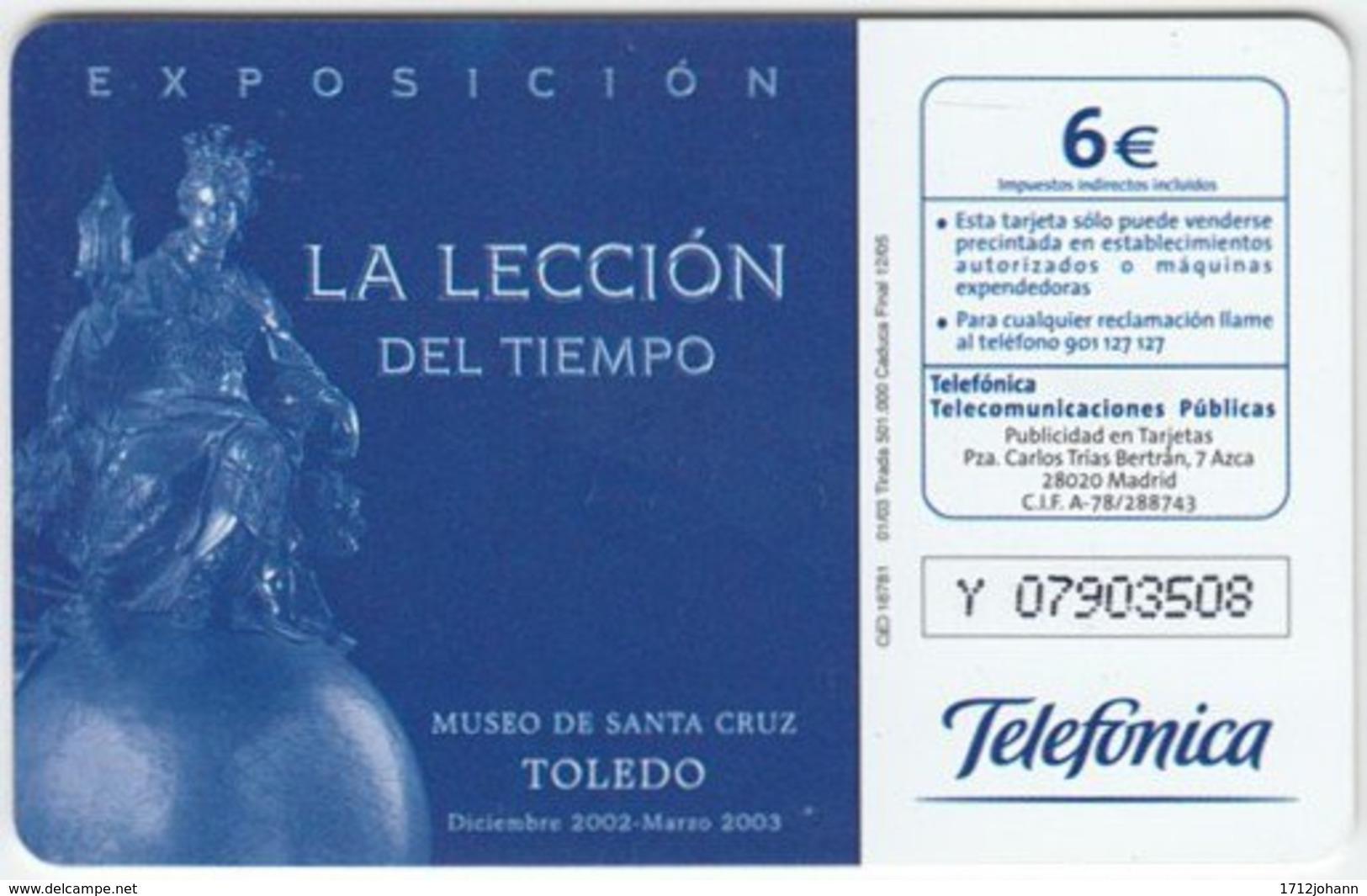 SPAIN A-544 Chip CabiTel - Culture, Museum, Historic Statuette - Used - Spanien
